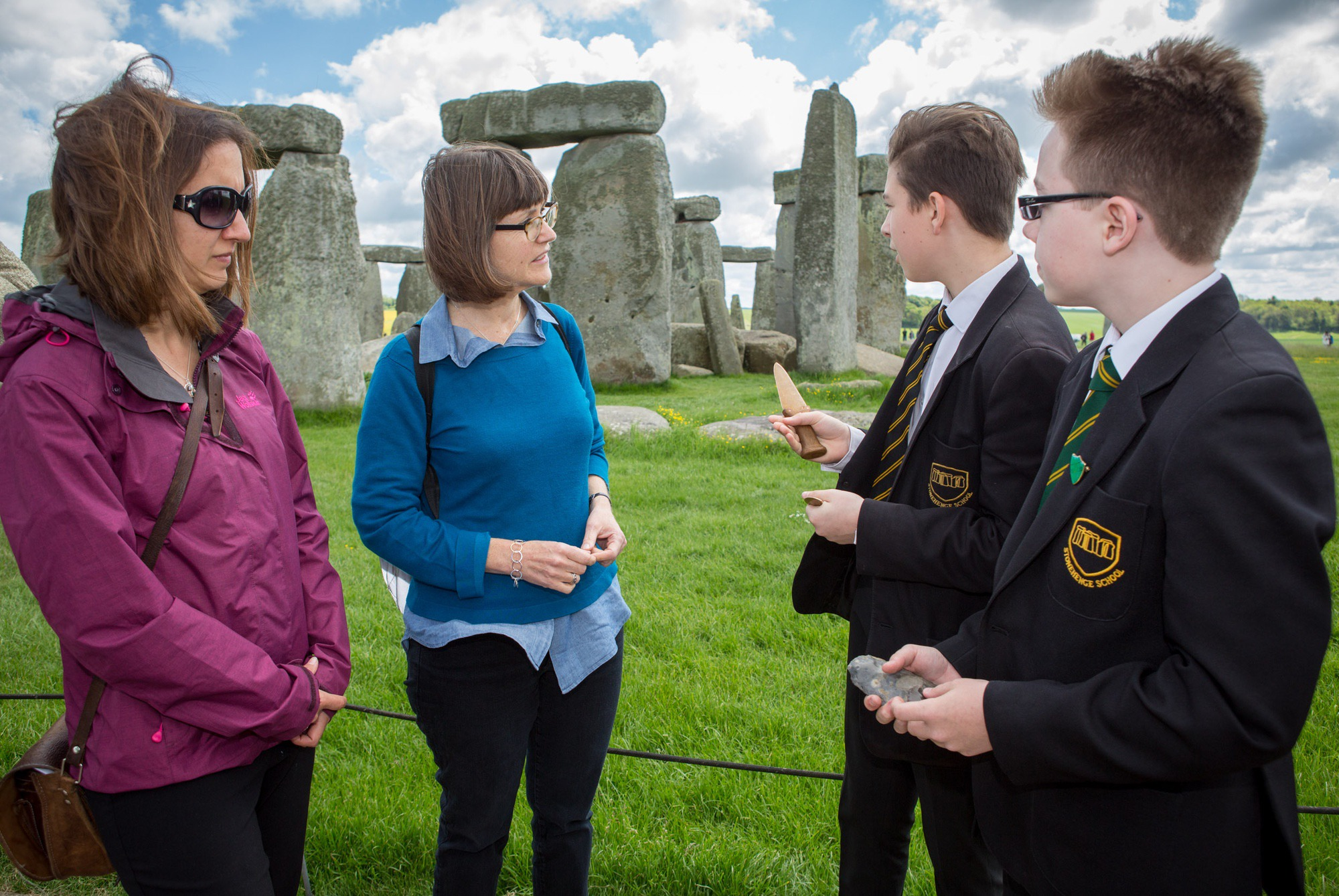 People next to Stonehenge