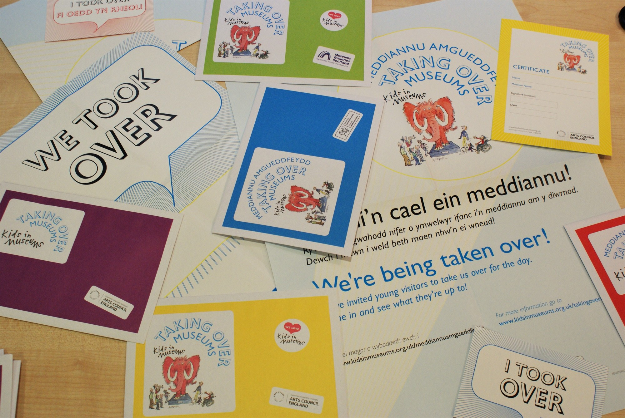 Takeover day leaflets