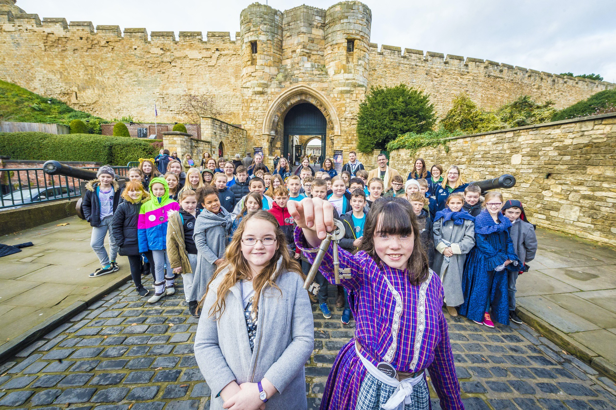 Children at Lincoln Castle