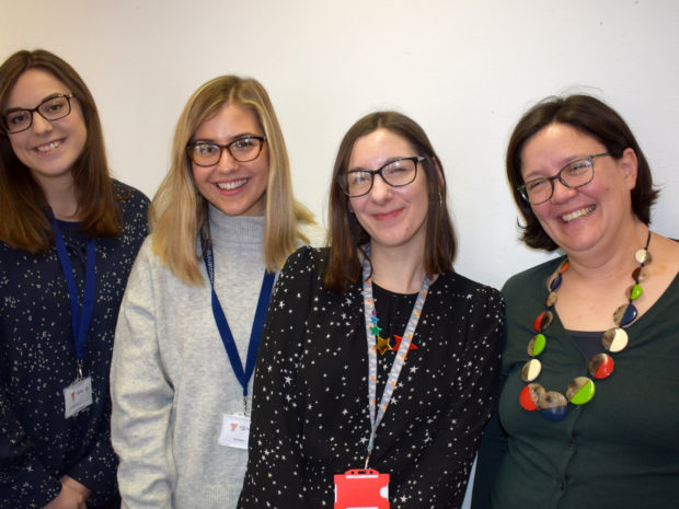 A picture of the Kids in Museums team: Jocelyn Murdoch, Ella Ottaway, Laura Bedford and Alison Bowyer.