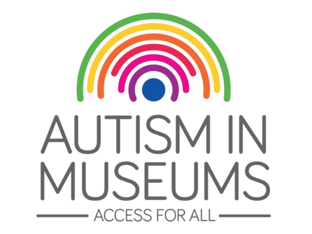 The Autism in Museums logo featuring a rainbow and the text 'Access for all'.